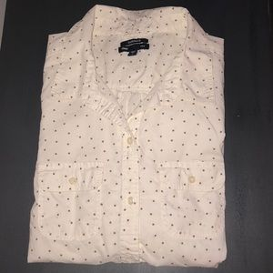 Gap Med BF fit long sleeve button down shirt